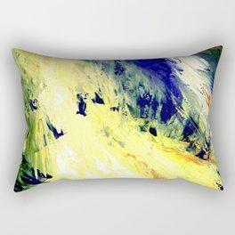 Abstract Yellow Dancer by Robert S. Lee Rectangular Pillow