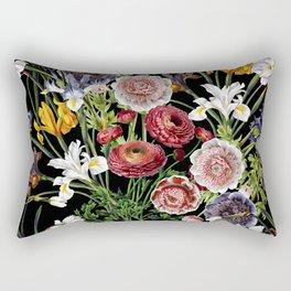 Vintage & Shabby Chic - Lush baroque flower pattern Rectangular Pillow