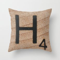 Tile H Throw Pillow