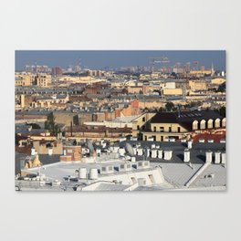 Buildings roofs cityscape scenery. Canvas Print