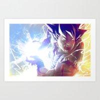 goku Art Prints featuring Goku by MATT DEMINO