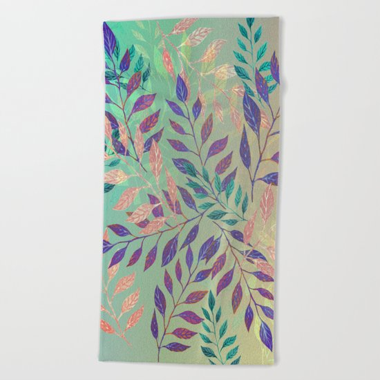 Abstract Leaf Arrangement (Atmospheric) Beach Towel