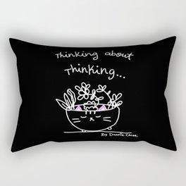 Thinking About Thinking Rectangular Pillow