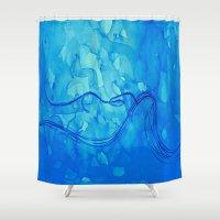 aquarius Shower Curtains featuring Aquarius  by HollyJonesEcu