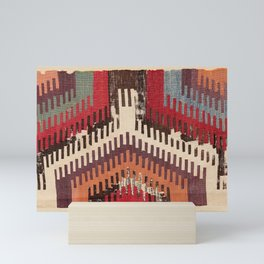 Afyon Central Anatolian Kilim Fragment Print Mini Art Print