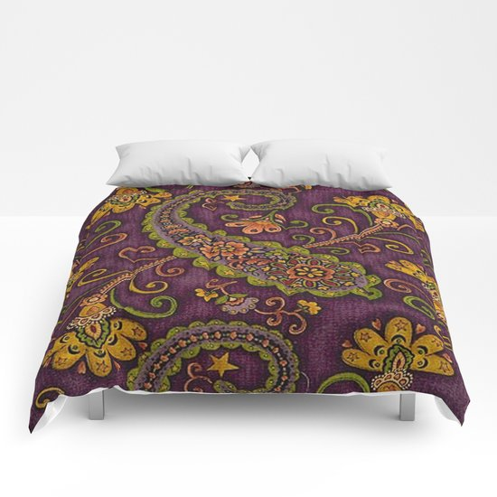 Floral Paisley Pattern 06 Comforters