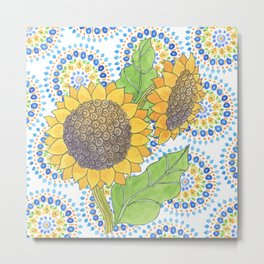Sunflower-Wallflower by Sandy Thomson Metal Print