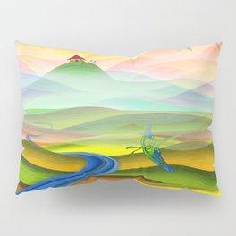 Fantasy valley naive artwork Pillow Sham