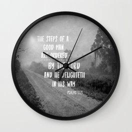 Steps of a Good Man Bible Verse Wall Clock