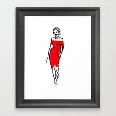 fashion sketch 2 Framed Art Print