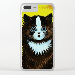 "Louis Wain's Cats ""Psychedelic Rainbow Cat"" Clear iPhone Case"