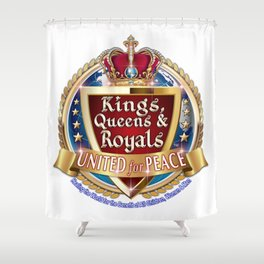 Kings, Queens & Royals United Shower Curtain