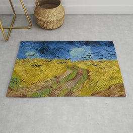 "Vincent van Gogh ""Wheat Field with Crows"" Rug"