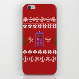 TARDIS CHRISTMAS SWEATER iPhone Skin