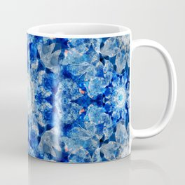 Aqua Crystal Mandala Coffee Mug