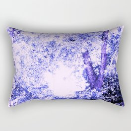 Blue trees Rectangular Pillow