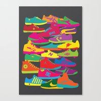 sneakers Canvas Prints featuring Sneakers by Glen Gould