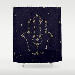 Hamsa Constellation Shower Curtain