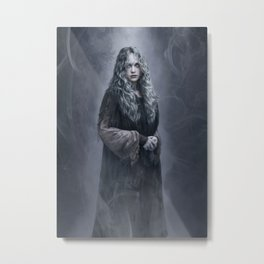 Azulin the Gray - Ghostly Forest Witch Metal Print