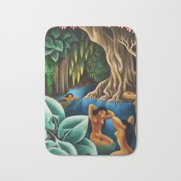 Bathing in the River by Miguel Covarrubias Bath Mat