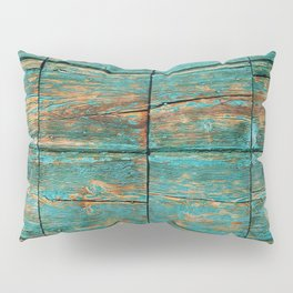 Rustic Teal Boards (Color) Pillow Sham