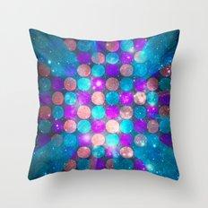 Glitter Dots Throw Pillow