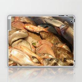 Variety of Fresh Fish Seafood on Ice Laptop & iPad Skin