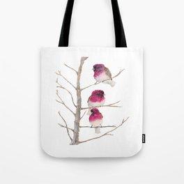 Fuxia birds Tote Bag