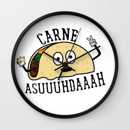 Carne Asuuuhdaaah Tacoception Wall Clock