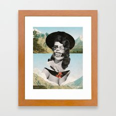 Collage #13 (Landslide) Framed Art Print
