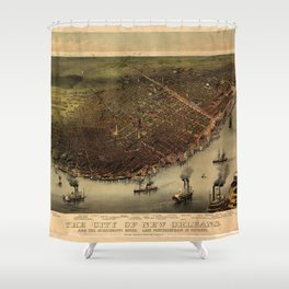 The city of New Orleans (1885) Shower Curtain