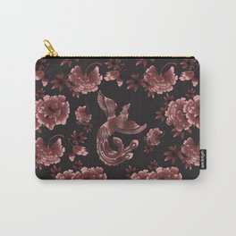 Phoenix Bird with peony flowers Carry-All Pouch