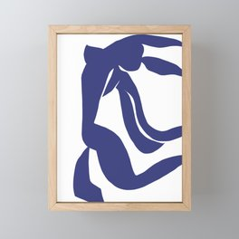 Matisse Cut Out Figure #4 Deep Blue Framed Mini Art Print