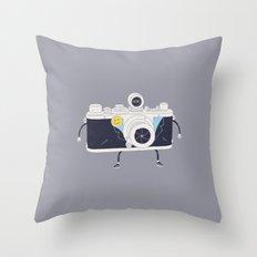 Old Skool Cam Throw Pillow