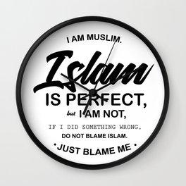 I Am Muslim Wall Clock