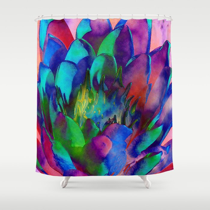 Lilly Psychedelic Shower Curtain