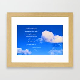 """""""Clouds #57"""" with poem: God's Pillows Framed Art Print"""