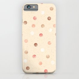 Modern retro polka dots painting on pastel background illustration pattern iPhone Case