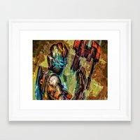 dead space Framed Art Prints featuring Dead Space  by Joe Misrasi