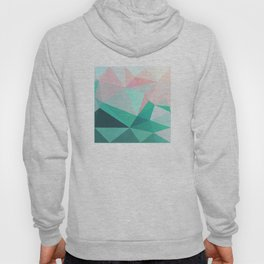 Geometric Landscape - Pink and Green Hoody