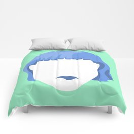 EMPTY FACES #1 Comforters