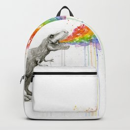 T-Rex Rainbow Puke - Facing Right Backpack