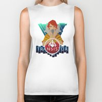 transistor Biker Tanks featuring TRANSISTOR by Duke