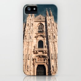 Milan Cathedral, Duomo di Milano, Gothic church, Lombardy, Milan photography iPhone Case