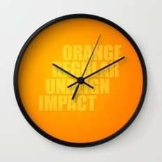 MetaType Orange Wall Clock