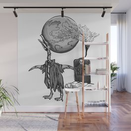 Penguin Zombie -Black and white Wall Mural