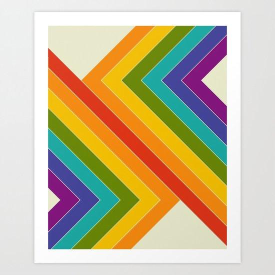 Rainbow Bend Art Print