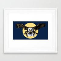 eagle Framed Art Prints featuring Eagle by Anna Shell