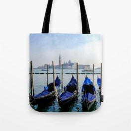 Row of Gondolas Venice Italy Tote Bag