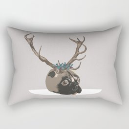 Pug Christmas Rectangular Pillow